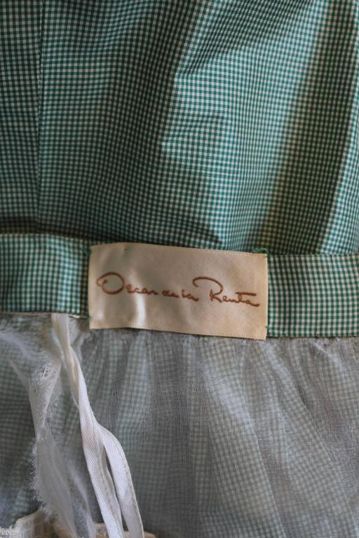 1980s Vintage Oscar de la Renta Gingham Ball Skirt  For Sale 5