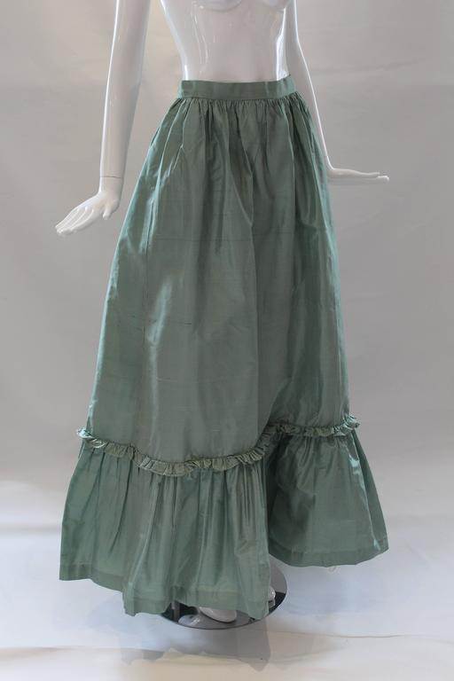 Women's 1980s Vintage Oscar de la Renta Gingham Ball Skirt  For Sale