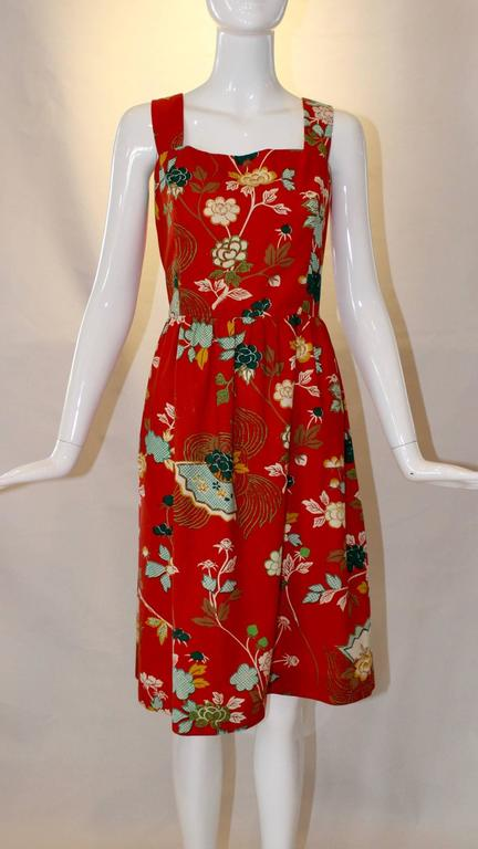 1960s Neiman Marcus Two Piece Printed Sundress  In Good Condition For Sale In Houston, TX