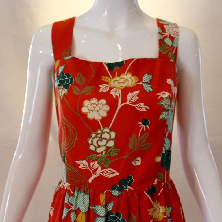 Women's 1960s Neiman Marcus Two Piece Printed Sundress  For Sale