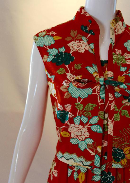 1960s Neiman Marcus Two Piece Printed Sundress  For Sale 1