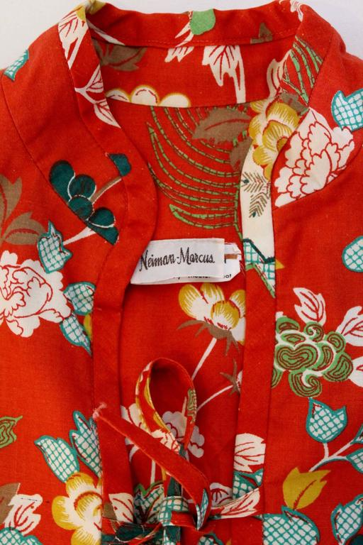1960s Neiman Marcus Two Piece Printed Sundress  For Sale 2