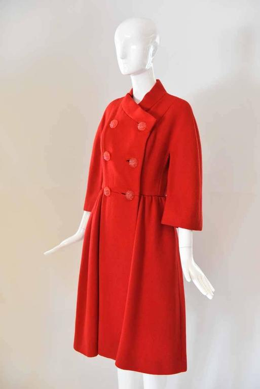 1950s Neiman Marcus Red Pea Coat For Sale At 1stdibs