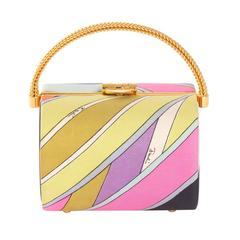 vintage emilio pucci hard case 'box' purse by funky finders