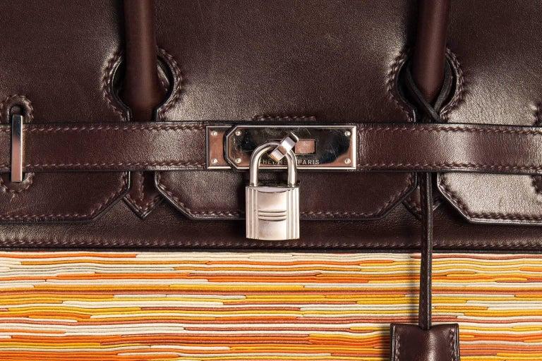 Brown Hermès Vibrato handbag. For Sale