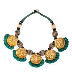 Turquoise Boho Seed Necklace