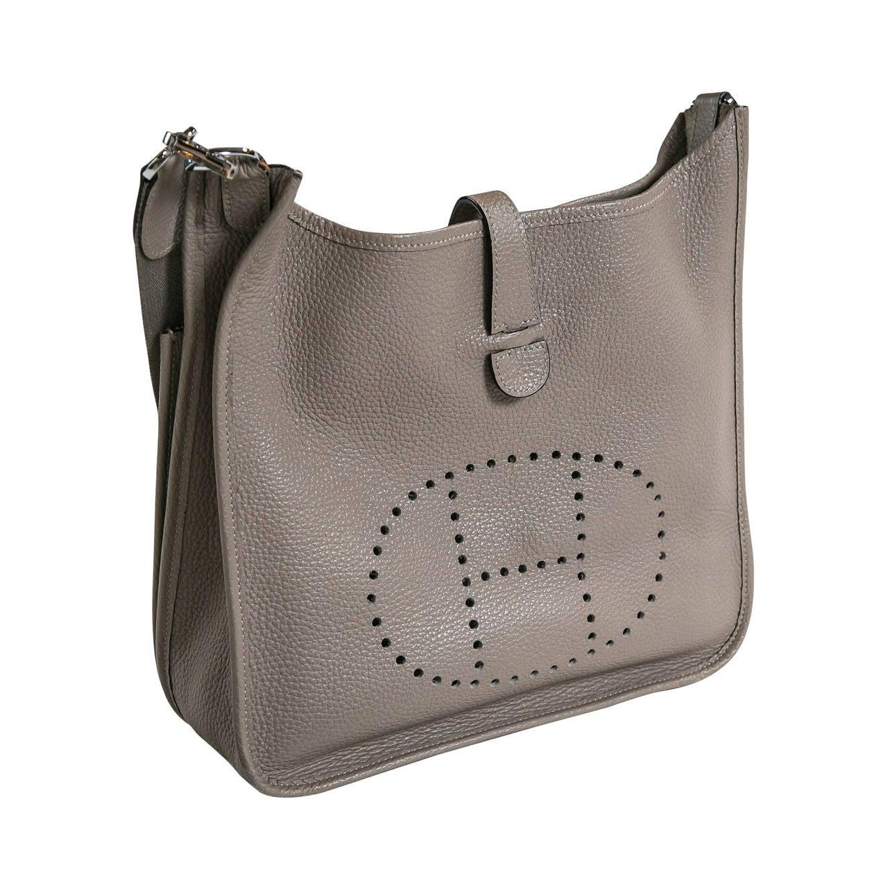 hermes leather handbag evelyne