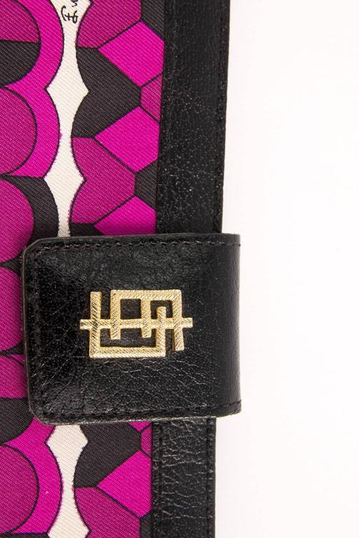 Vintage Emilio Pucci logo clutch wallet  For Sale 1