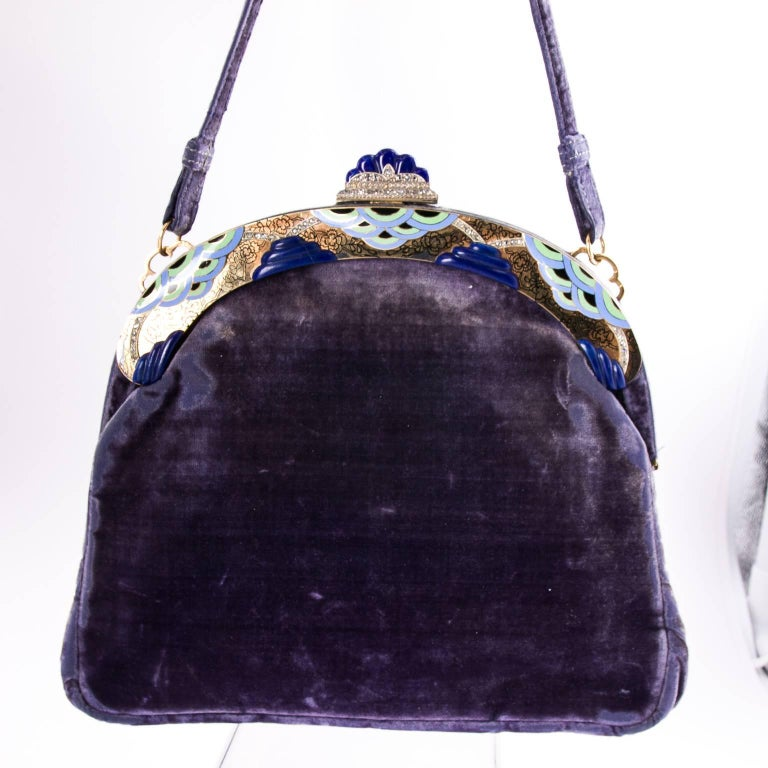 1920's French Art Deco Evening Bag  For Sale 2