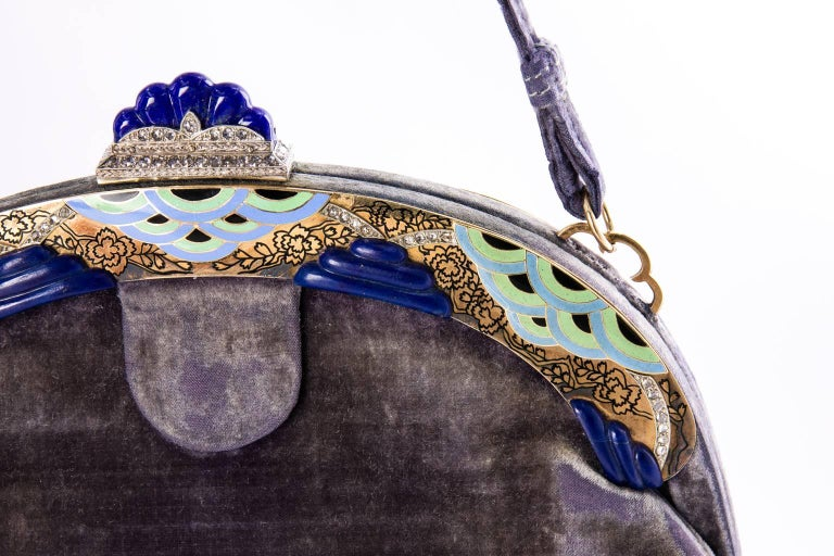 1920's French Art Deco Evening Bag  For Sale 3