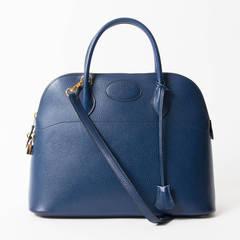 Hermes Bolide 35 Bleu Roi GHW