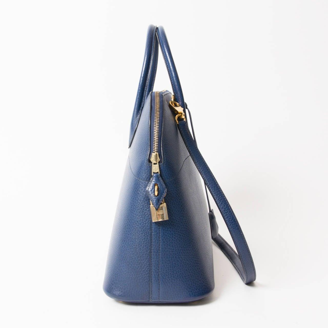 hermes kelly birkin bag - Hermes Bolide 35 Bleu Roi GHW at 1stdibs