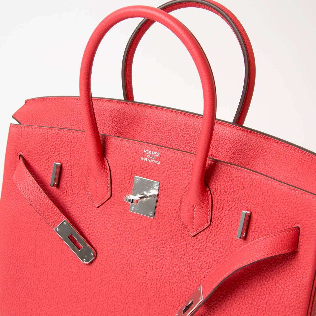 sac kelly hermes - Brand New Hermes Togo Birkin 35 cm Rouge Pivoine PHW at 1stdibs