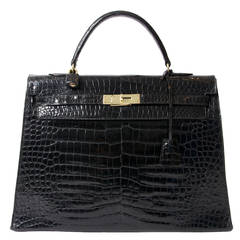 Hermès Kelly Bag Croco Prosorus 35