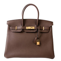 Hermès Birkin Togo Cacao GHW 35