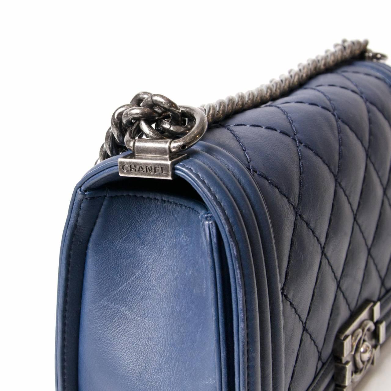 Chanel Lambskin Medium Quilted Boy Bag 3