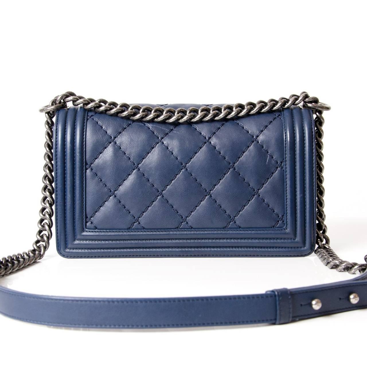Chanel Lambskin Medium Quilted Boy Bag 4