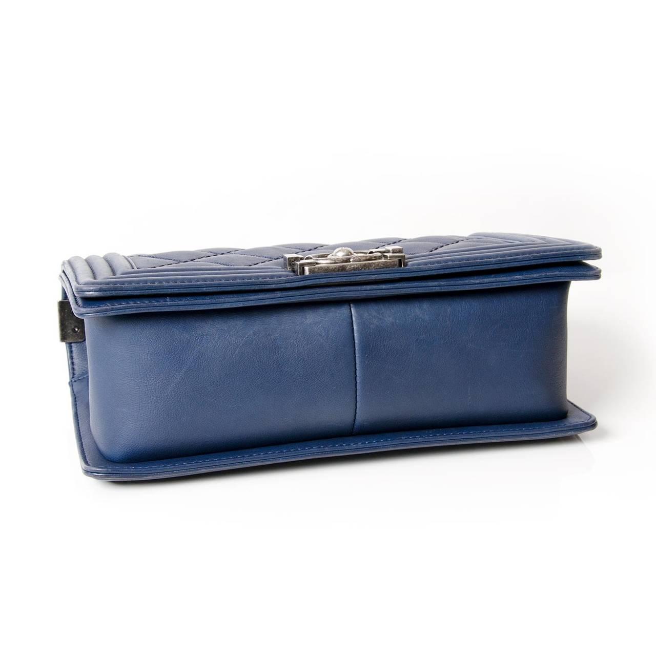 Chanel Lambskin Medium Quilted Boy Bag 5