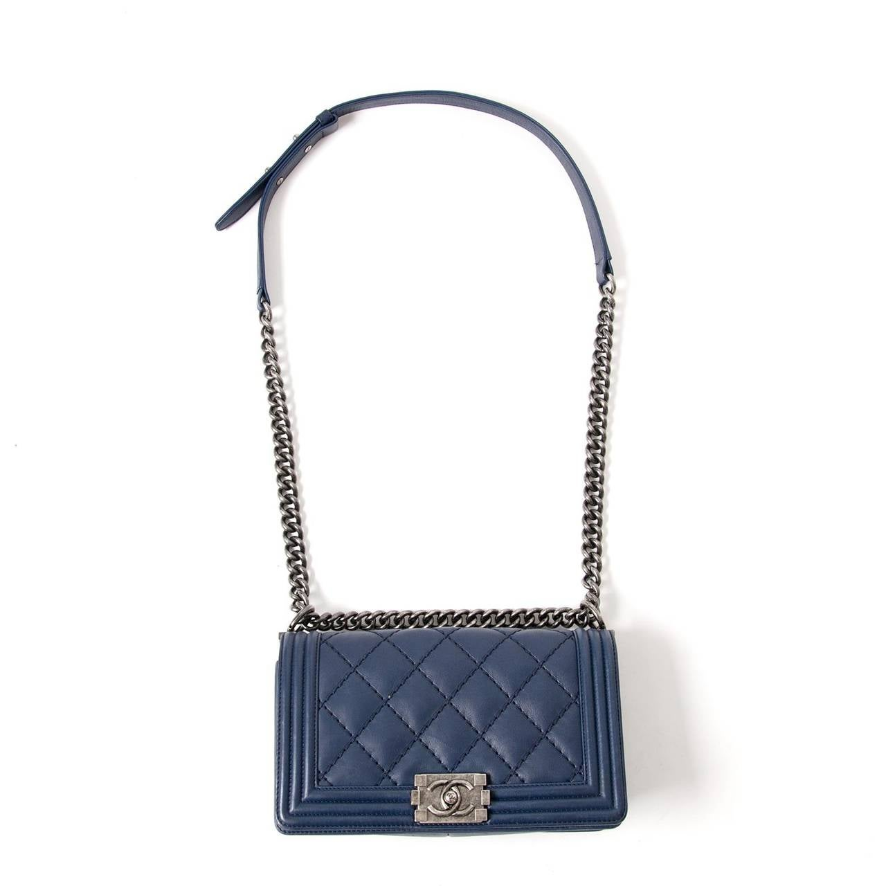 Chanel Lambskin Medium Quilted Boy Bag 6