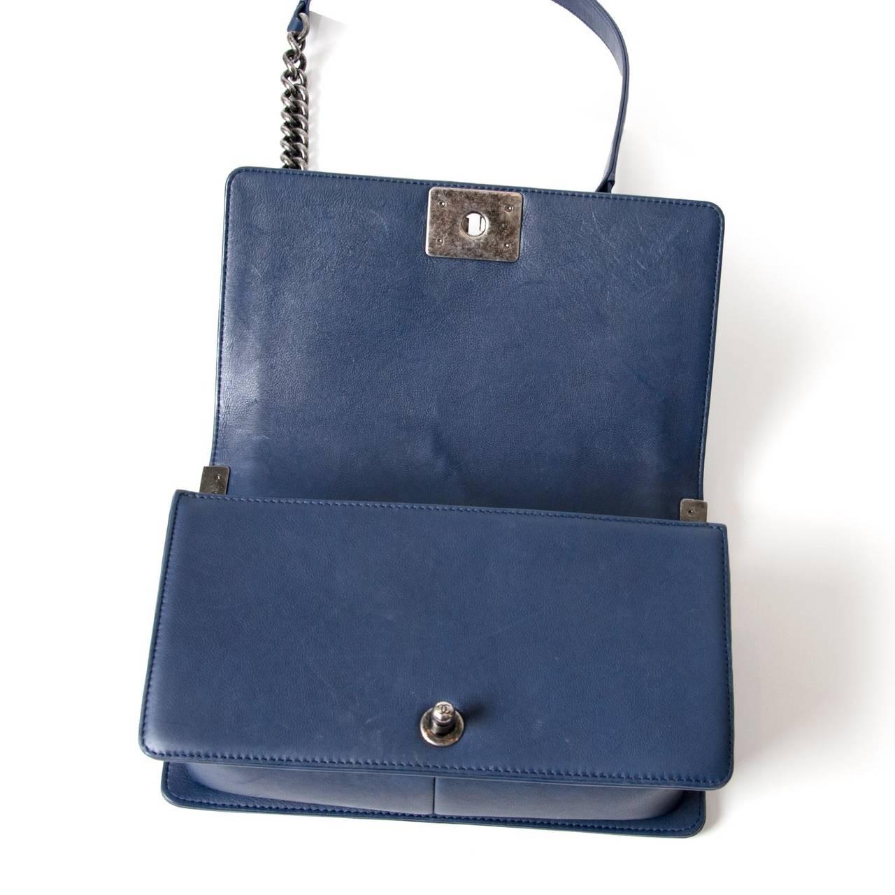 Chanel Lambskin Medium Quilted Boy Bag 7