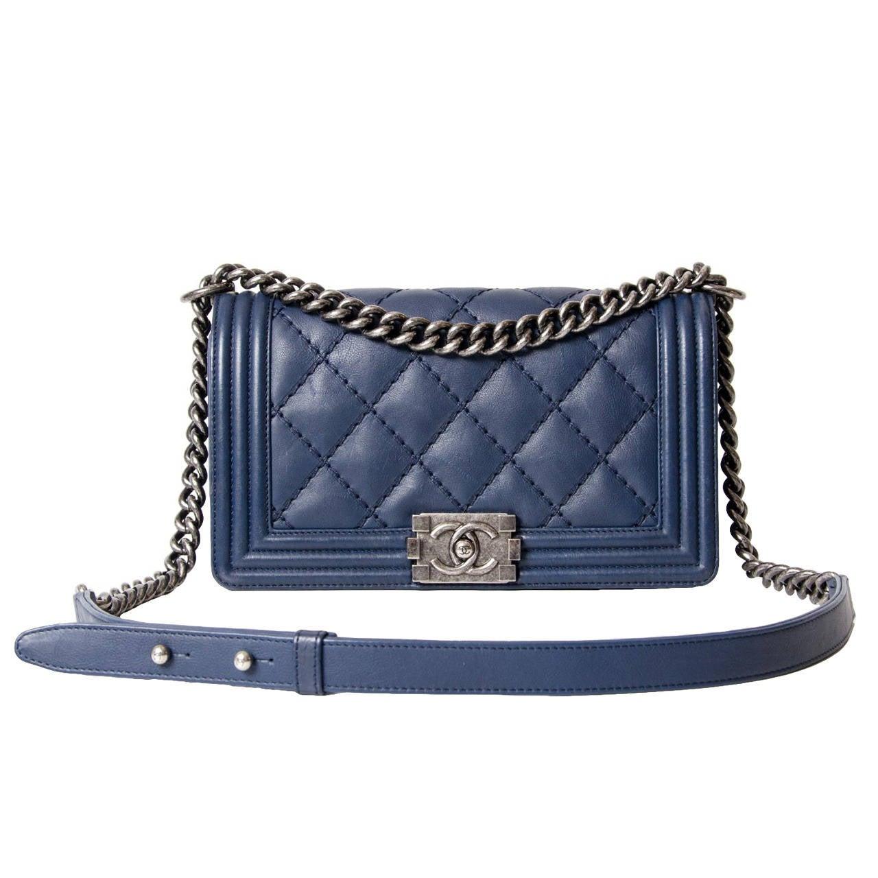 Chanel Lambskin Medium Quilted Boy Bag 1