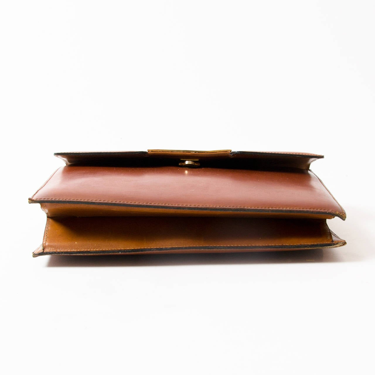 Delvaux Vintage Cognac Top Handle Bag 4