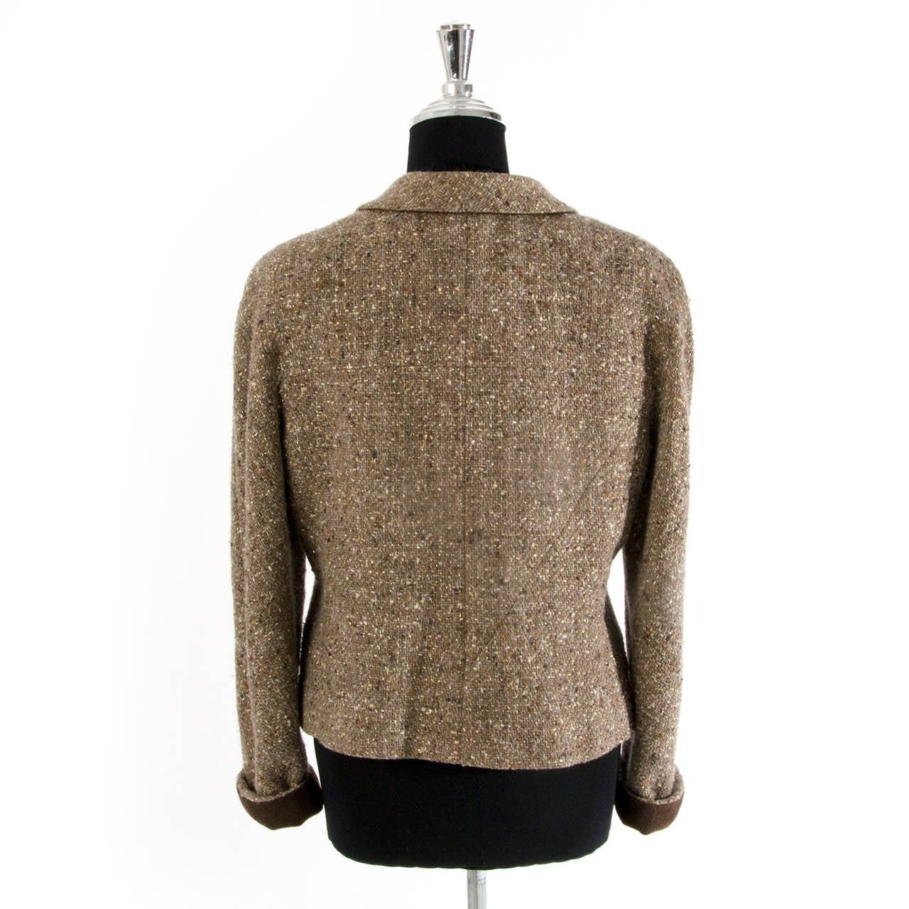 Chanel Tweed Brown Jacket 2