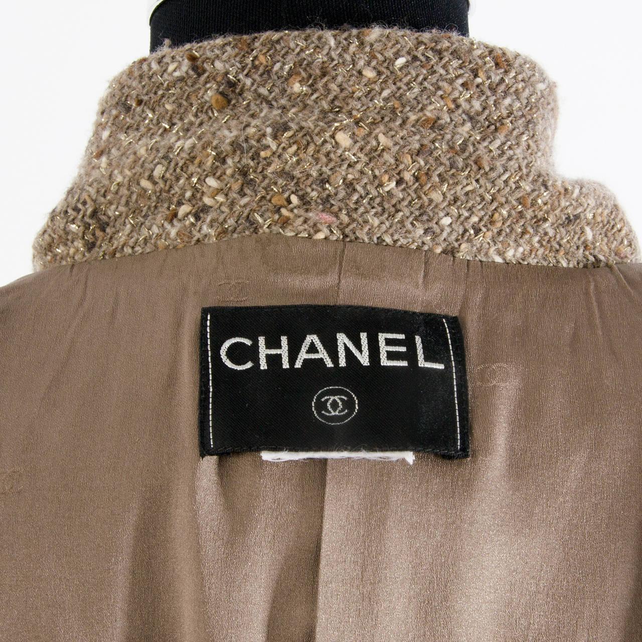 Chanel Tweed Brown Jacket 5