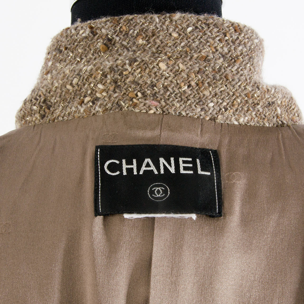 Chanel Tweed Brown Jacket For Sale 1