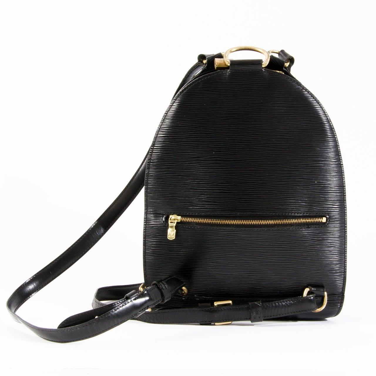 1600852ac4a ... louis vuitton black epi mabillon backpack at 1stdibs ...