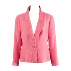 Chanel Pink Bouclé Blazer