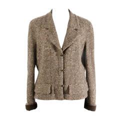 Chanel Tweed Brown Jacket