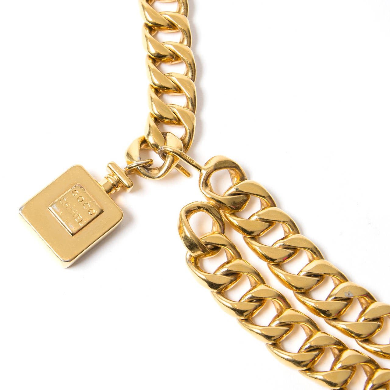 This Chanel Gold chain belt will make any outfit complete. 