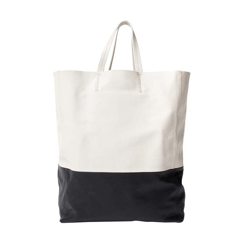 Céline Black And White Cabas Bag 1