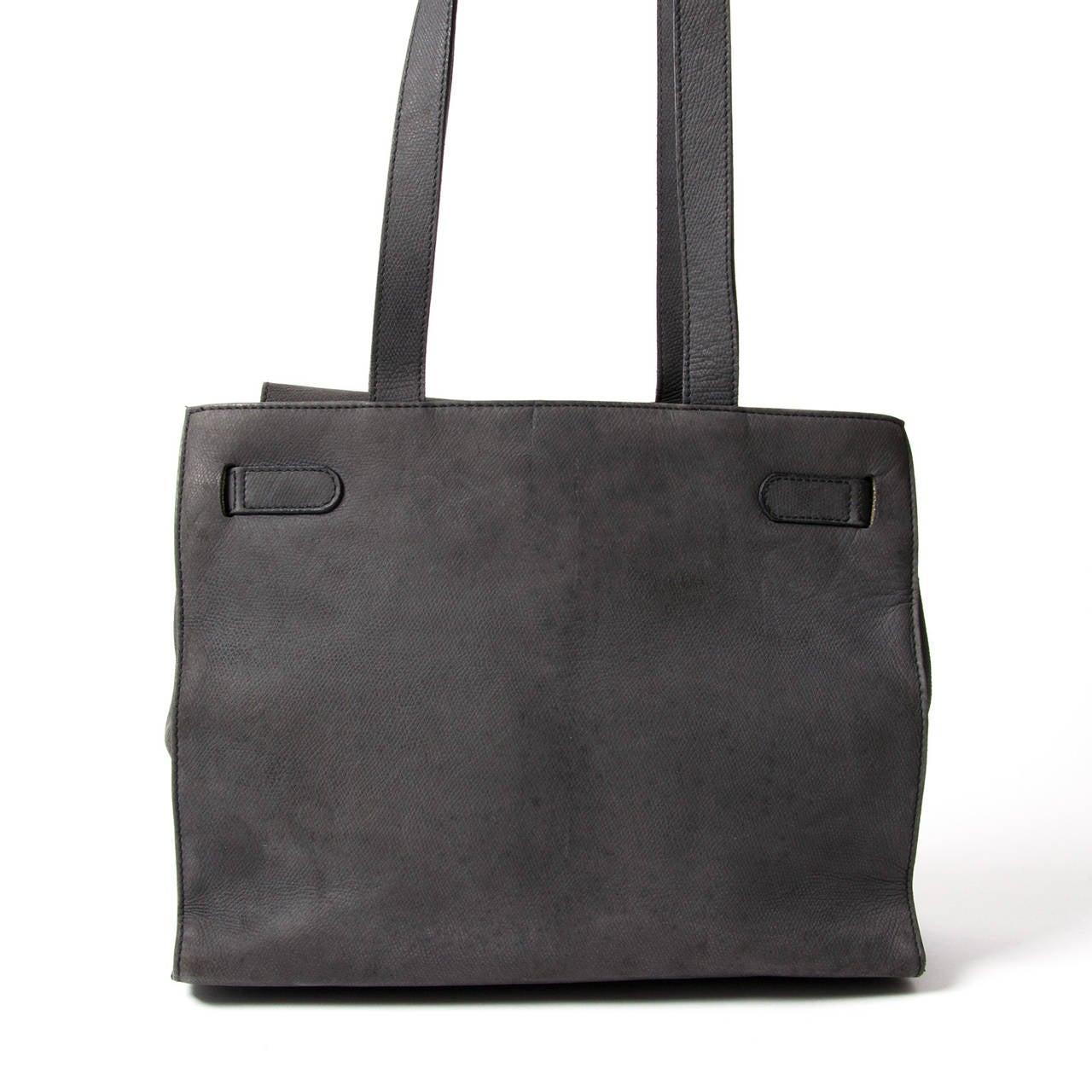 Jill Sander Grey Nubuck Bag 2