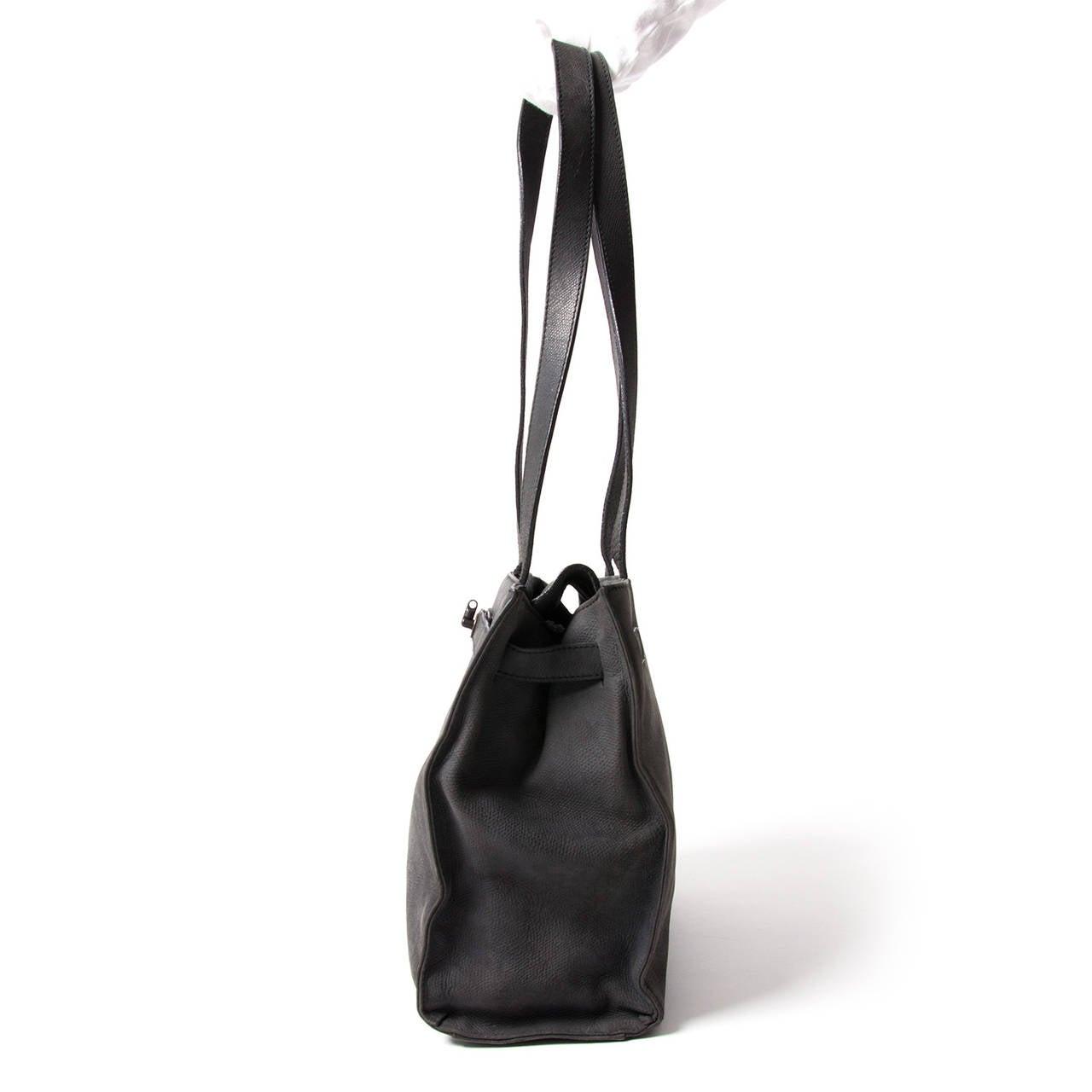 Jill Sander Grey Nubuck Bag 3