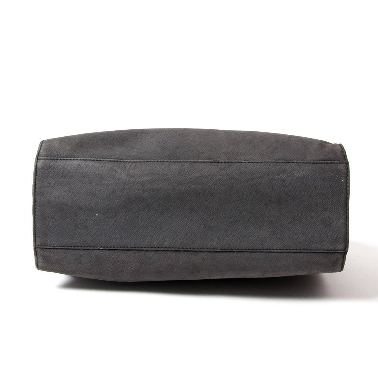 Jill Sander Grey Nubuck Bag 4