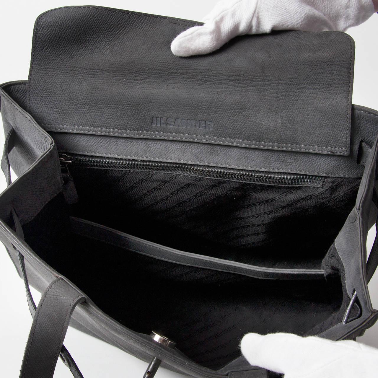 Jill Sander Grey Nubuck Bag 5