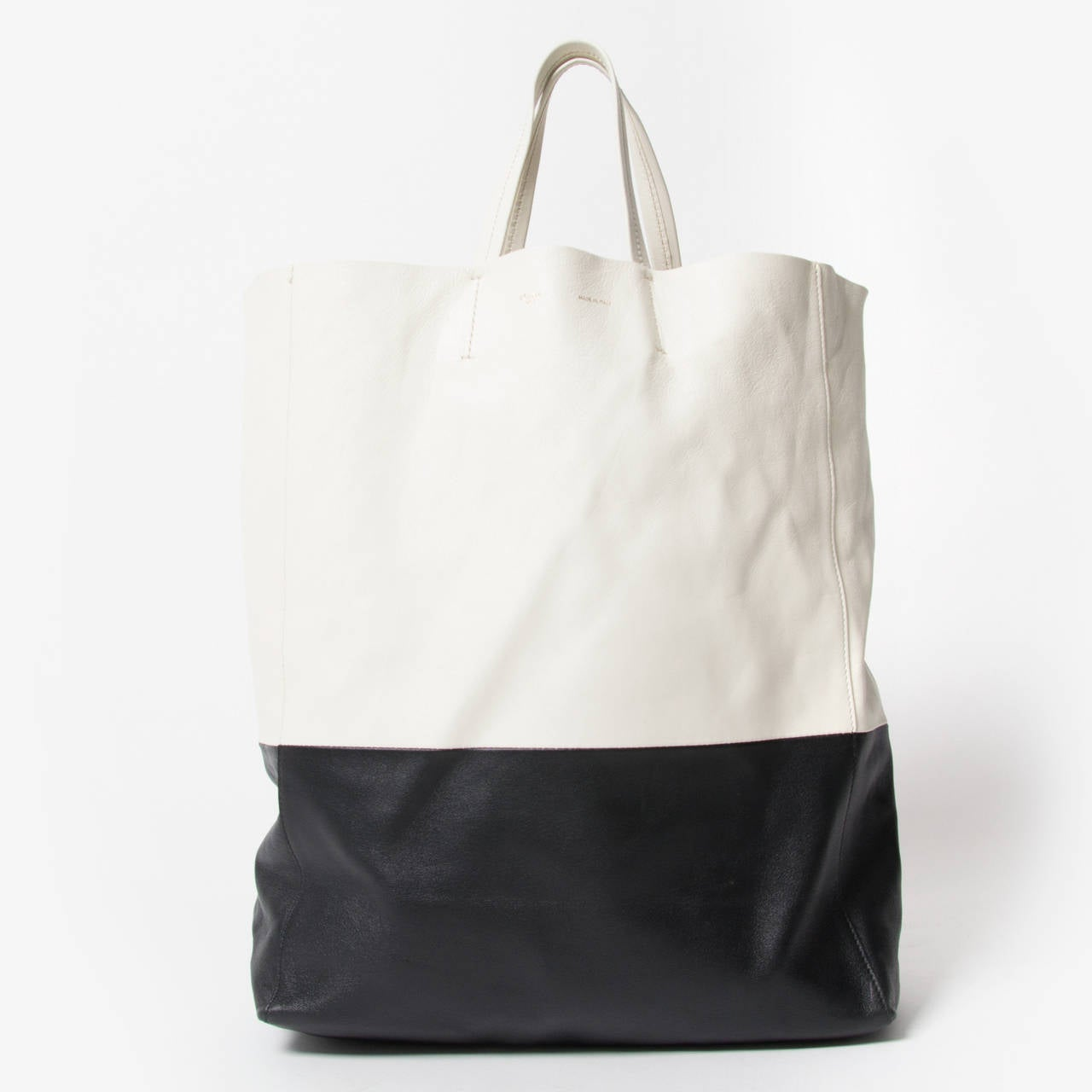 C¨¦line Black And White Cabas Bag at 1stdibs