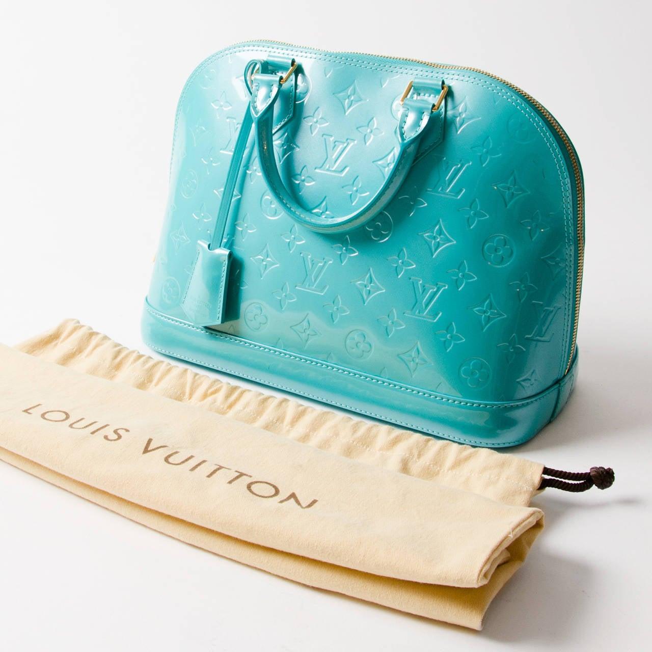31db6937a1a3 Louis Vuitton Alma Pm Vernis Blue Lagoon at 1stdibs