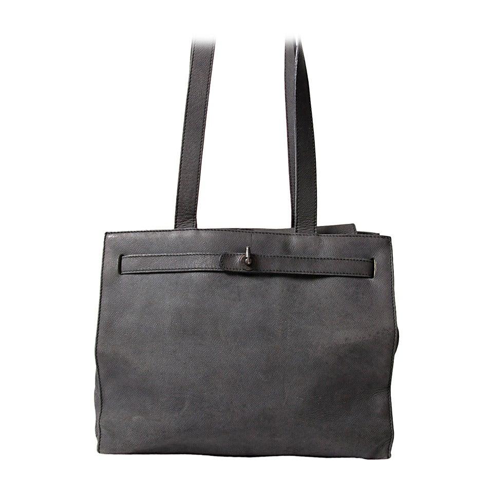 Jill Sander Grey Nubuck Bag 1