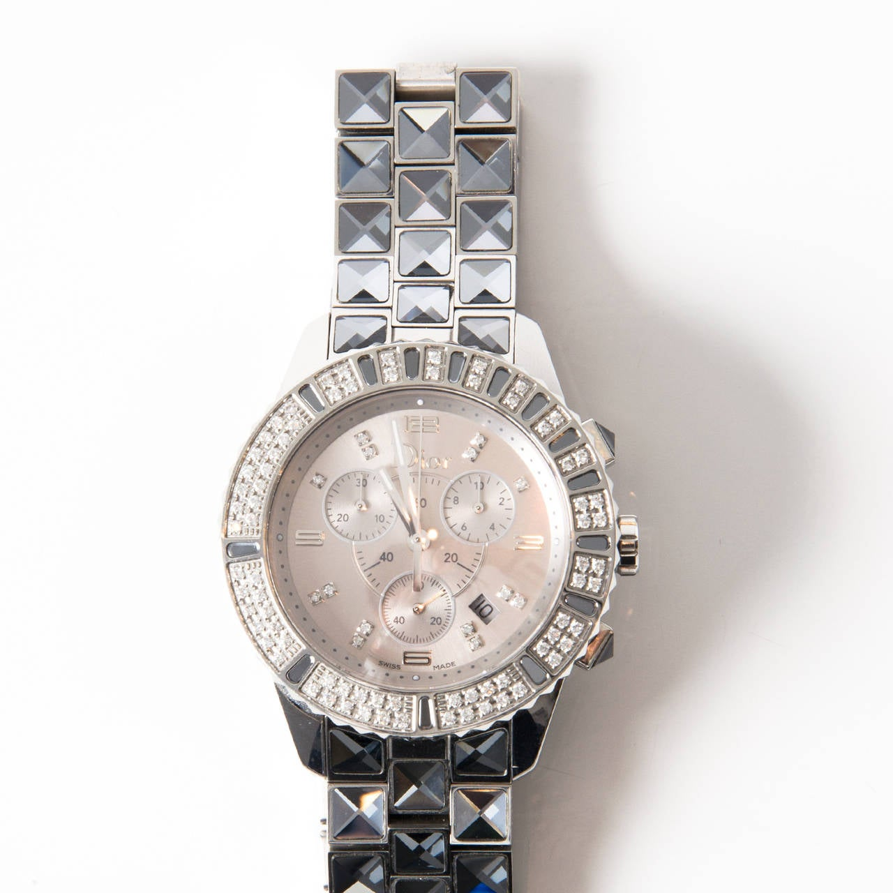 Christian dior ladies watch dior christal for sale at 1stdibs for Christian dior watches