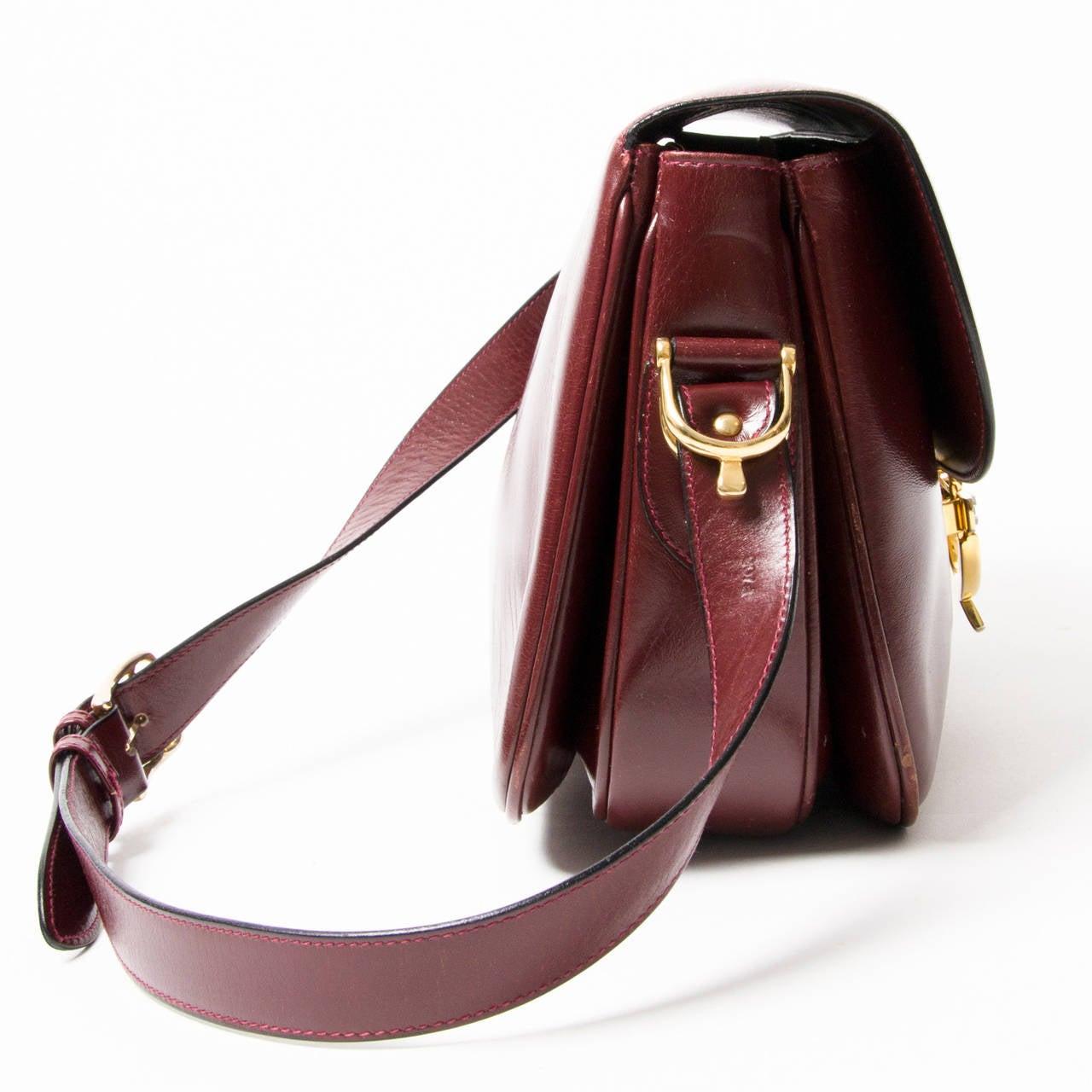 celine vintage burgundy bag/pouch
