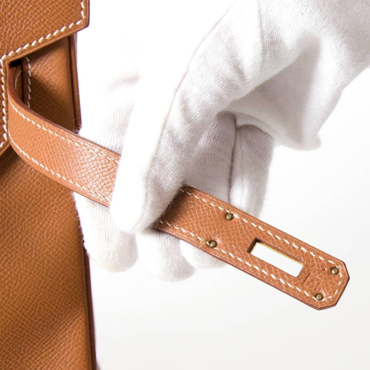 hermas bag  - Herm��s Birkin Bag Gold Courchevel GHW 40 at 1stdibs