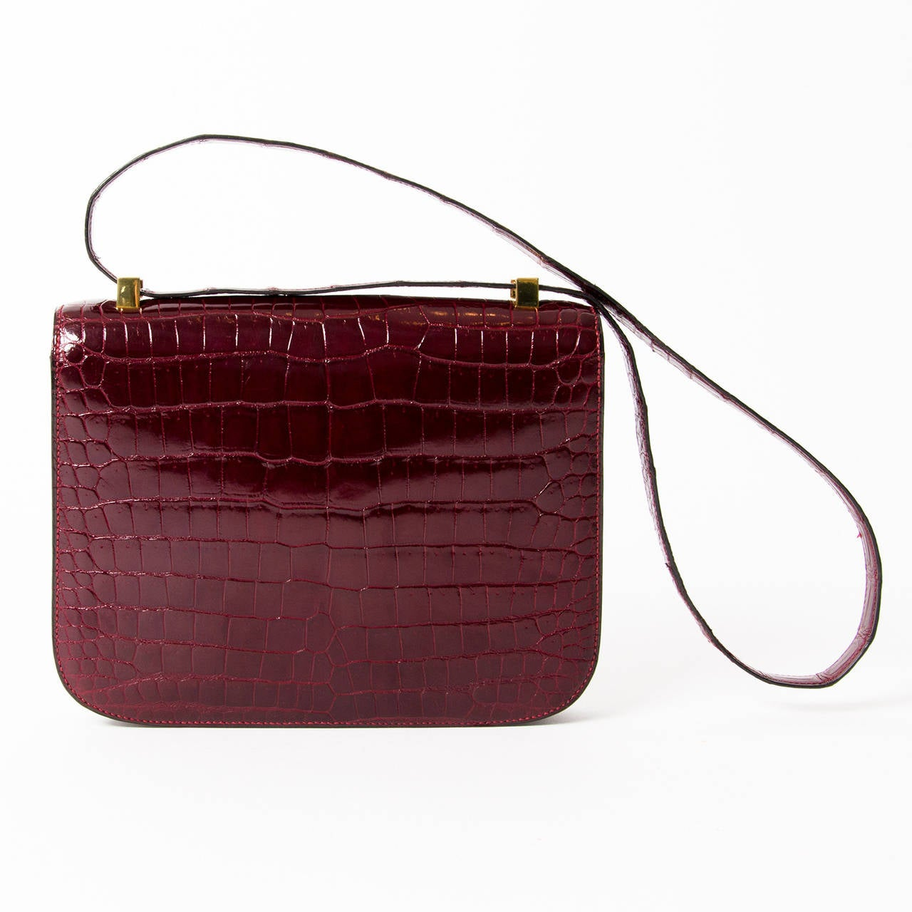 Hermes Croco Constance Rouge H 3