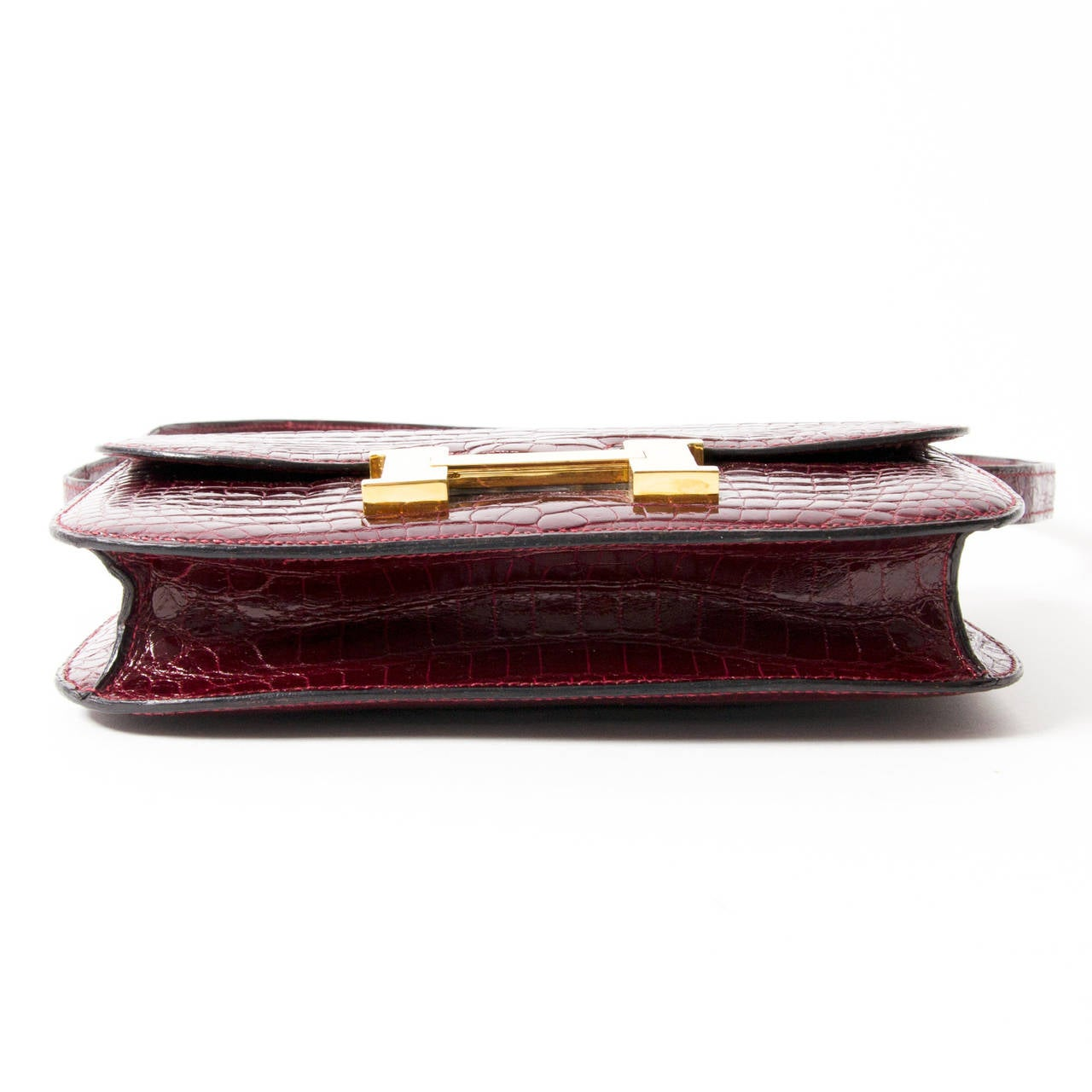 Hermes Croco Constance Rouge H 4