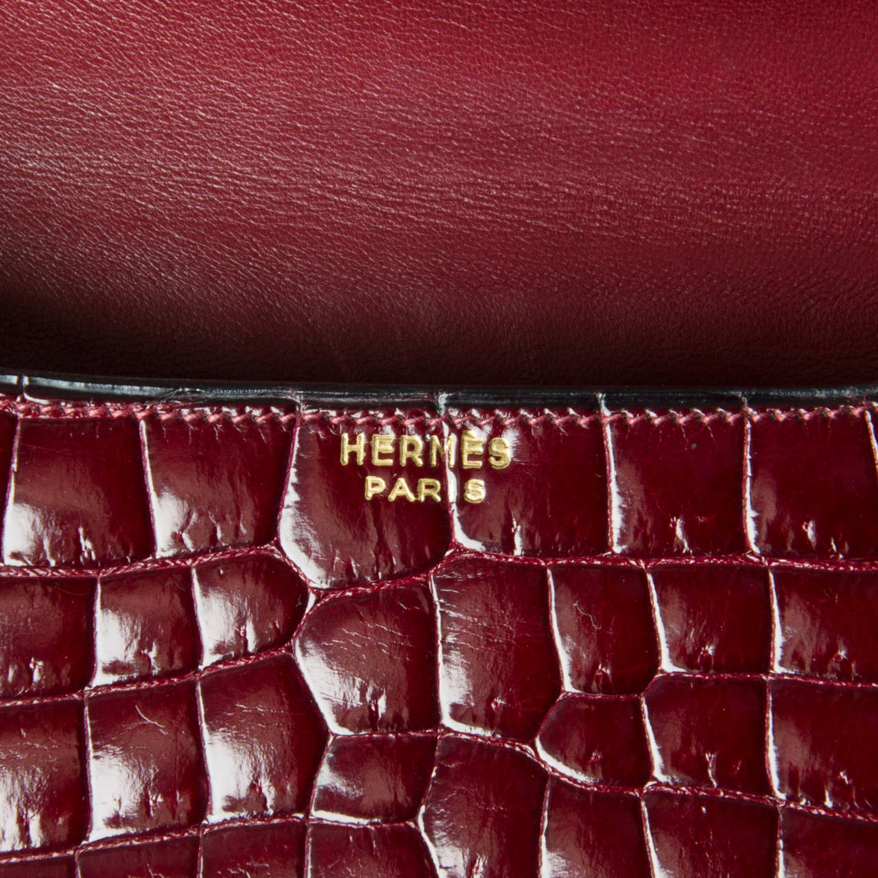Hermes Croco Constance Rouge H 5
