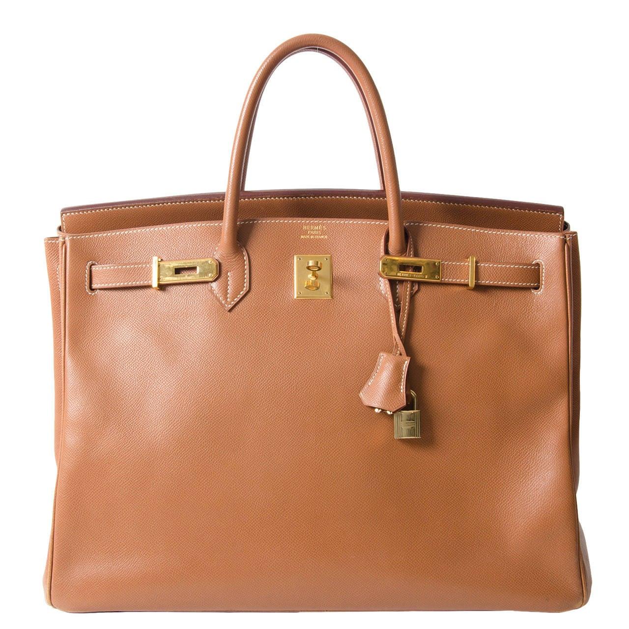 Hermès Birkin Bag Gold Courchevel GHW 40 at 1stdibs 4bddb733b99ee