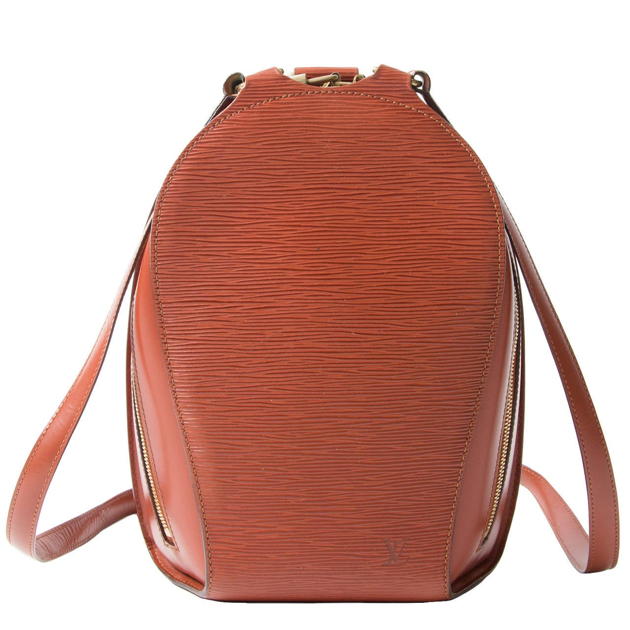 966a6322fed7 Louis Vuitton Brown Epi Mabillon Backpack at 1stdibs