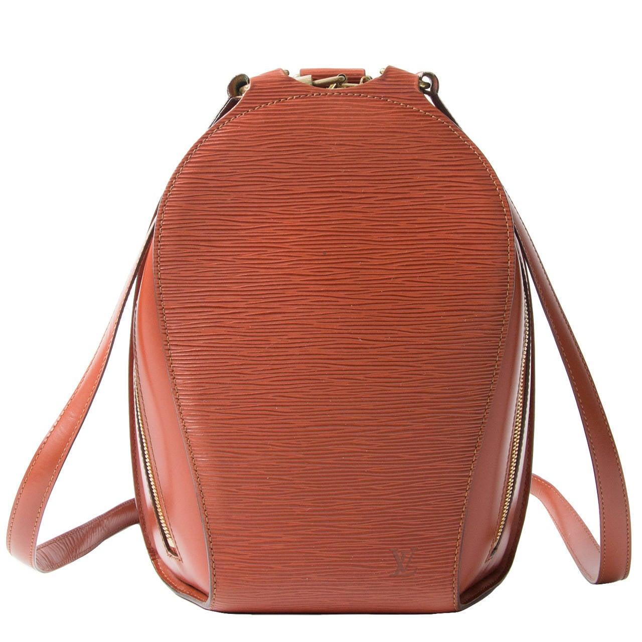 louis vuitton brown epi mabillon backpack at 1stdibs. Black Bedroom Furniture Sets. Home Design Ideas